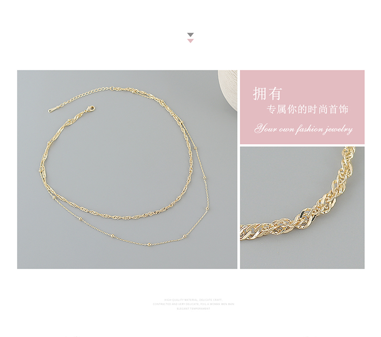 Genuine gold-plated double necklace wholesale fashion necklace women NHPS222623