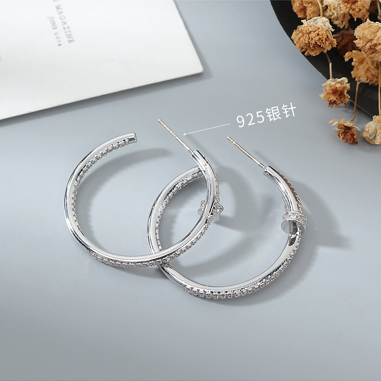 AAA Grade Zircon Earrings wholesale fashion women's starlight hoop earrings NHPS222633