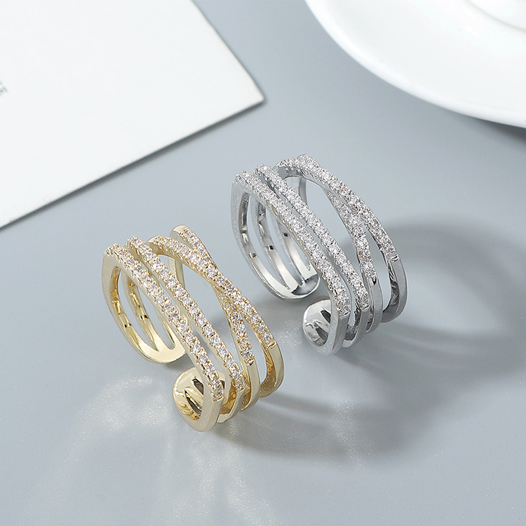 AAA zircon ring wholesale fashion womens zircon cross rings NHPS222639