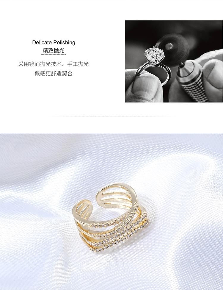 AAA zircon ring wholesale fashion women's zircon cross rings NHPS222639
