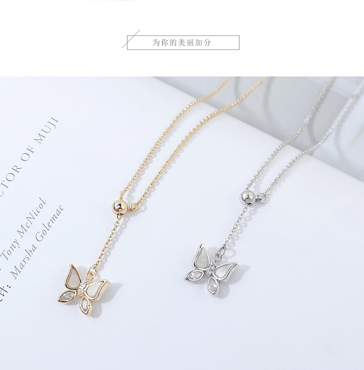 AAA Grade Zircon Necklace fashion Butterfly necklace wholesale NHPS222644