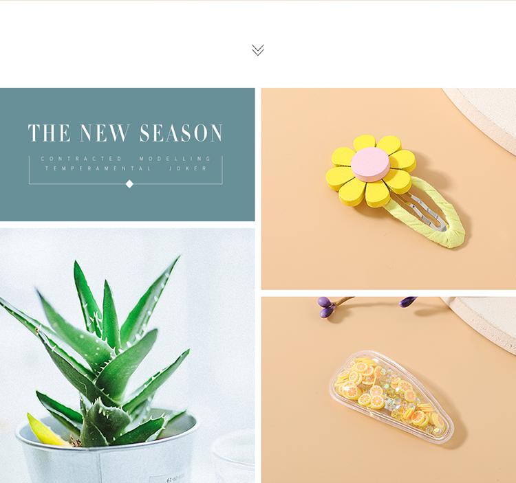 sweet fruit hair scrunchies hair clips set cute simple mango hair band hair clip set NHPS222657