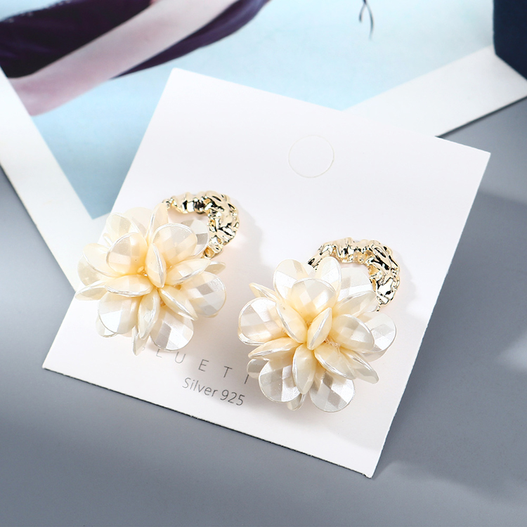 gold-plated creative wild exaggerated fashion trendy personality S925 silver needle  earring wholesale nihaojewelry NHPS227051