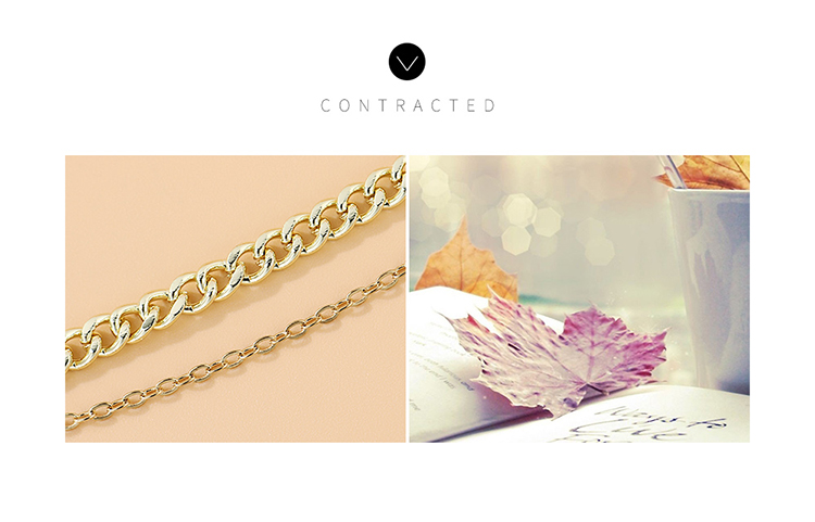 Korean creative fashion popular exaggerated lucky tree double anklet wholesale nihaojewelry NHPS231465