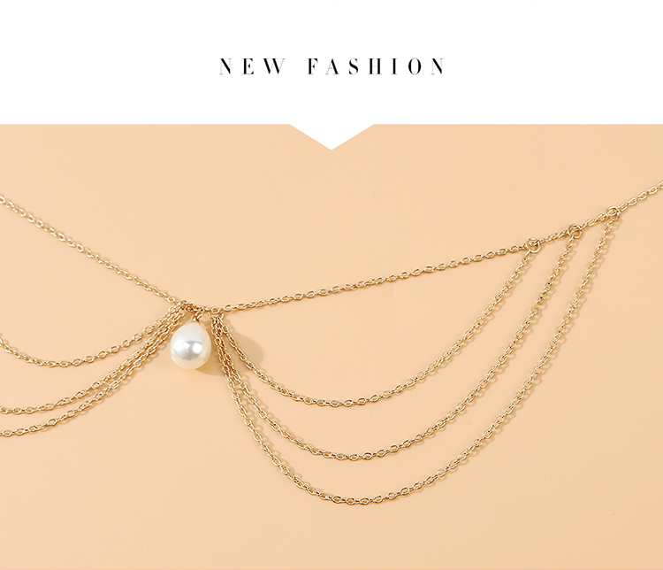 fashion retro wild personality sexy pearl waist chain nihaojewelry wholesale   NHPS235584