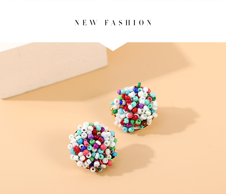 fashion creative exaggerated personality wild color beads earrings nihaojewelry wholesale   NHPS235602