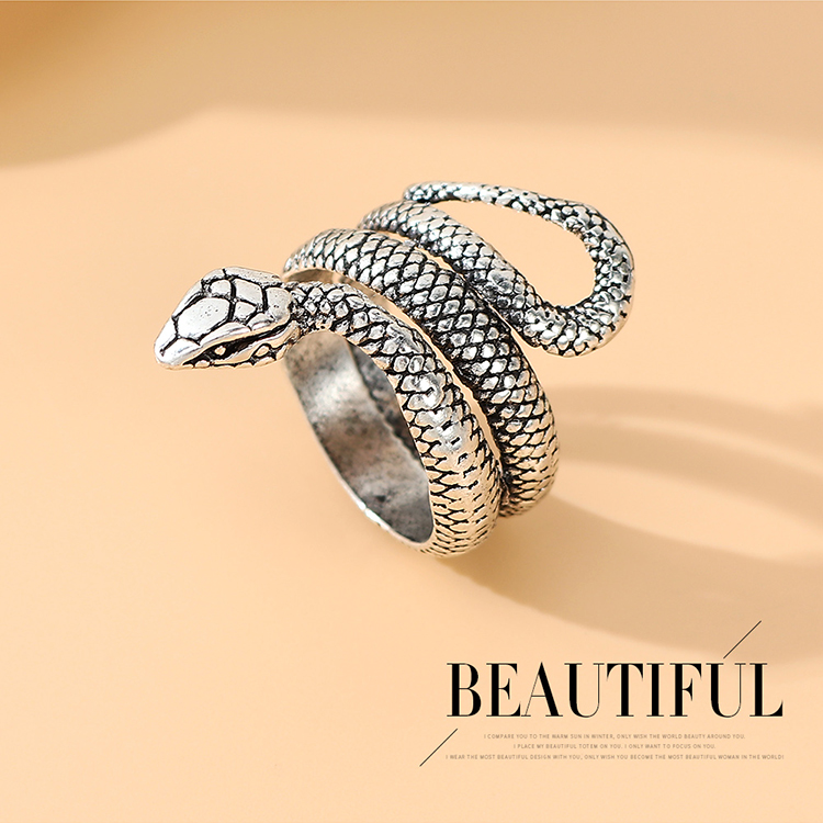 Fashion ring exquisite all-match snake ring pop alloy ring nihaojewelry NHPS237328
