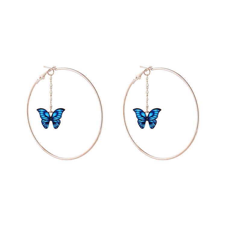 Korean exaggerated trend flower butterfly alloy earrings wholesale nihaojewelry NHPS243736