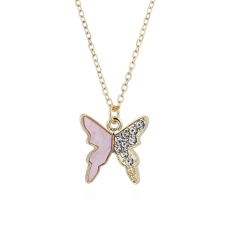 fashion simple flying butterfly necklace wholesale nihaojewelry NHPS243738