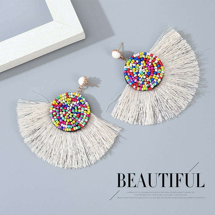 Korean style creative fashion ethnic style painting oil earrings wholesale nihaojewelry NHPS243741