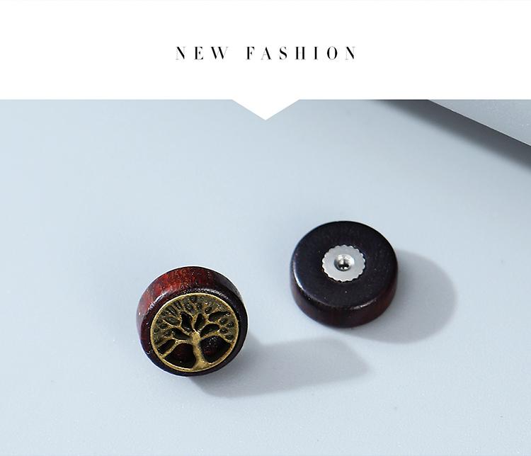 Korean fashion creative exaggeration popular small tree men's unilateral earrings wholesale nihaojewelry NHPS243742