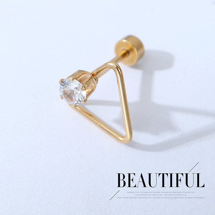 creative exaggerated unilateral mens and womens earrings wholesale nihaojewelry NHPS243744