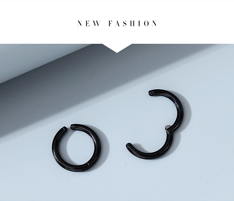 Korean fashion wild creative simple trend line men's earrings wholesale nihaojewelry NHPS243746
