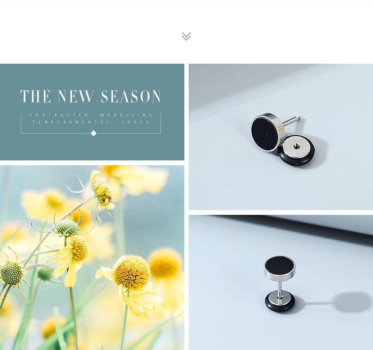simple fashion  individual unilateral men's earrings wholesale nihaojewelry NHPS243747