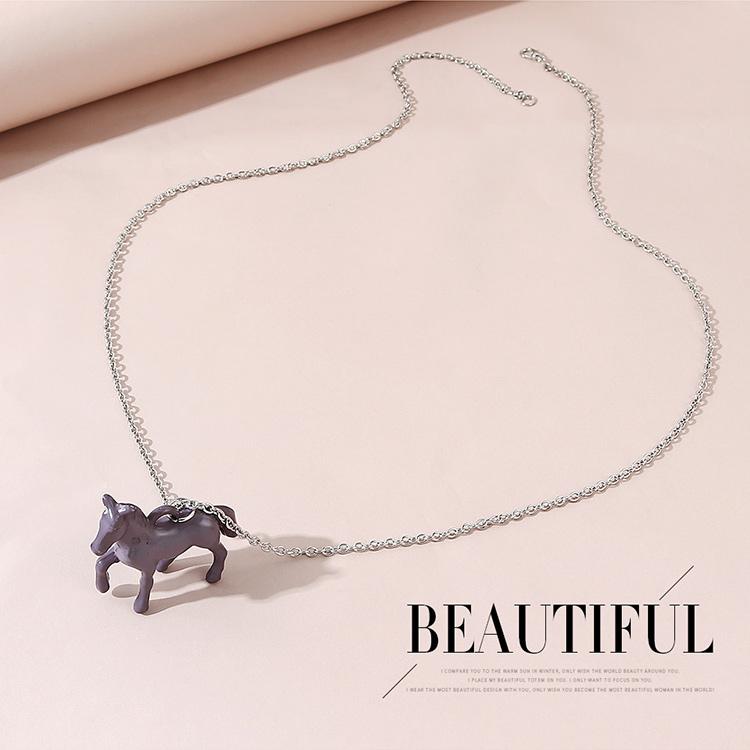 Collier cheval de Troie tendance sauvage de la mode corenne NHPS245973