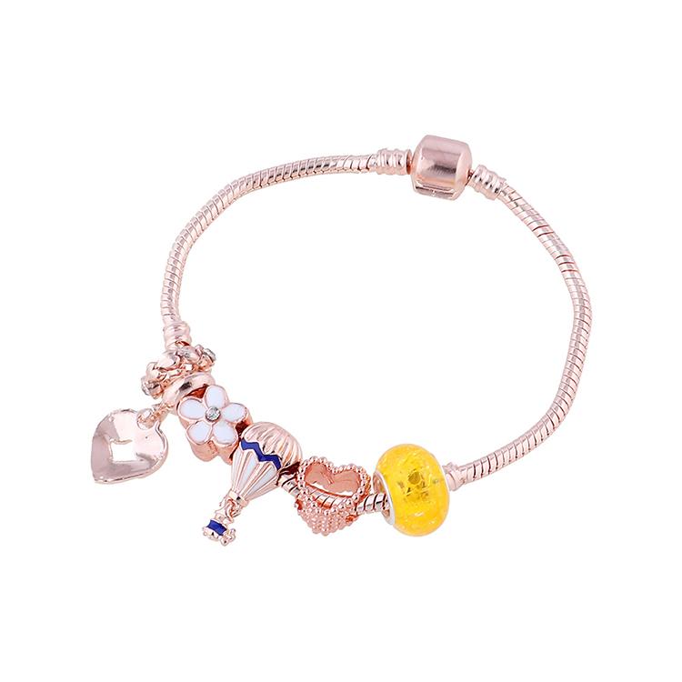 Korean fashion hot air balloon rhinestone painting oil bracelet wholesale nihaojewelry NHPS253026