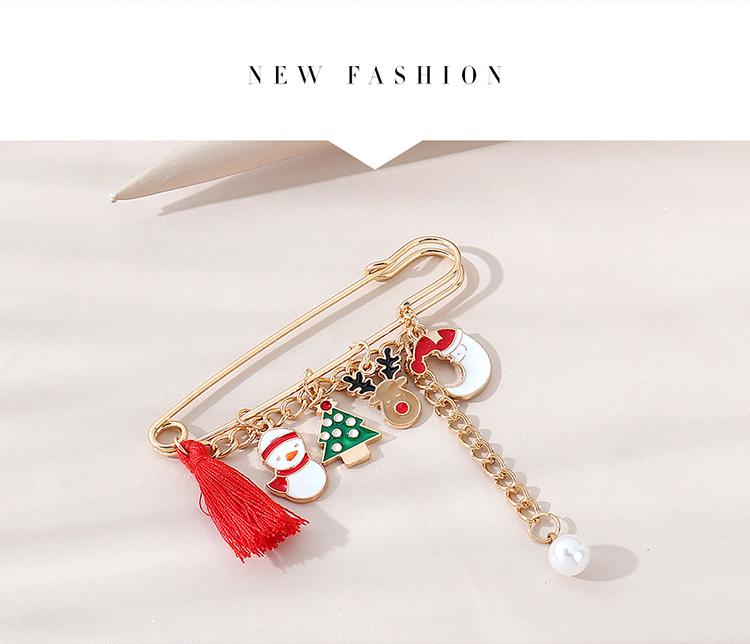 Christmas retro fashion all-match popular pearl brooch wholesale nihaojewelry NHPS253049