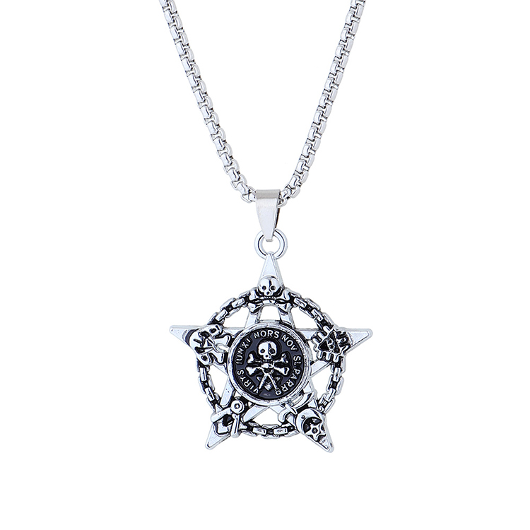 creative personality exaggerated fashion  skull necklace  NHPS258120