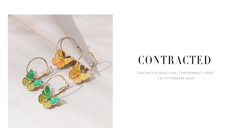 Korean fashion small fresh wild retro flower butterfly earrings NHPS258124