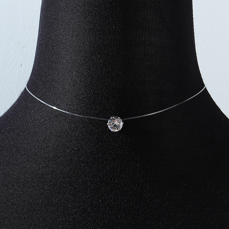 fashion shiny all-match crystal necklace NHPS258142