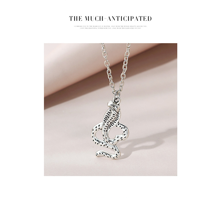Hot selling fashion creative exaggerated cobra double necklace NHPS261169