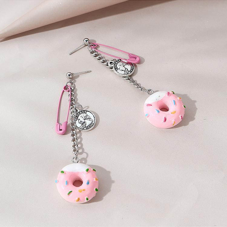 Hot selling fashion personality creative roman avatar donut earrings NHPS261170