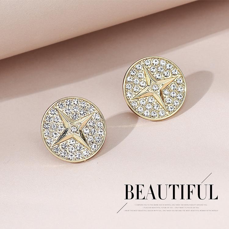 Hot selling simple and creative rhinestone earrings wholesale NHPS261186