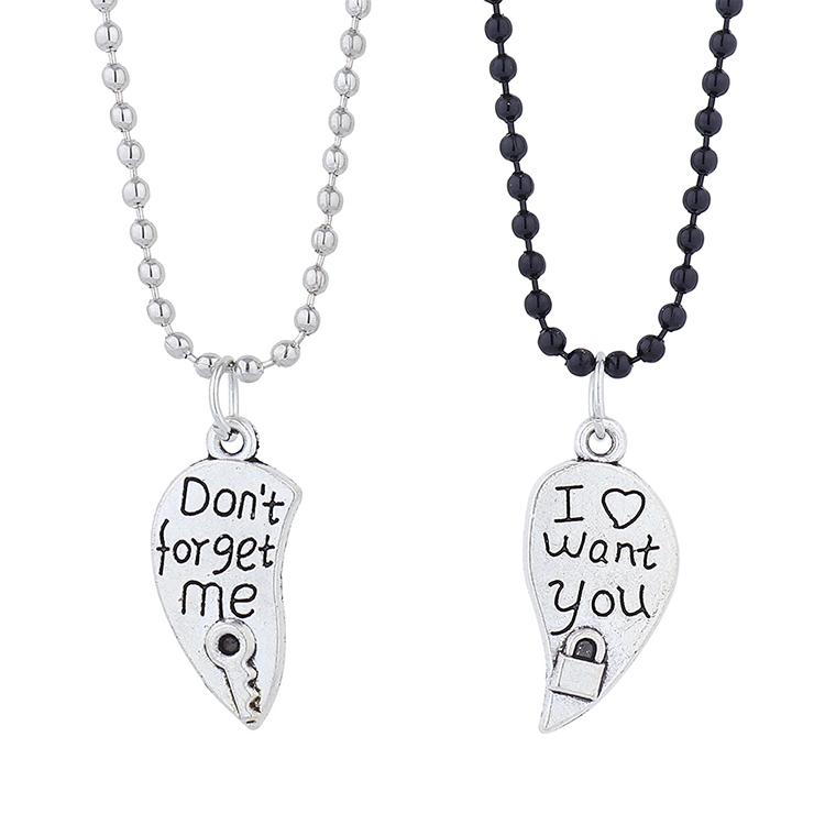 creative wild trendy line couple necklace NHPS303210
