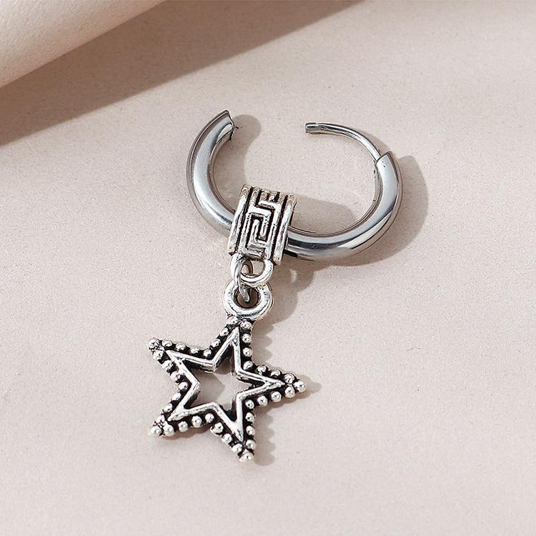 creative fashion small fivestar unilateral earrings NHPS303229