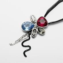 奥地利水晶项链-樱花雨(红,蓝)