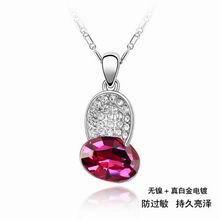 奥地利水晶项链―菱角(紫红)