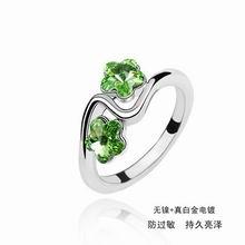 奥地利水晶戒指―忆意情(橄榄)