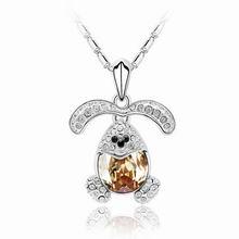奥地利水晶项链-幸福兔(金色魅影)
