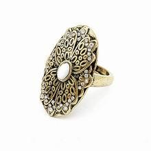 韩版复古戒指-花韵