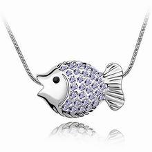 奥地利水晶项链--热带鱼(藕荷紫)