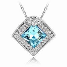 奥地利水晶项链-罗曼蒂克(海蓝)
