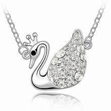 奥地利水晶项链-天鹅王后(白色)