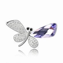 奥地利水晶胸针--蝴蝶精灵(藕荷紫)