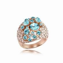 奥地利水晶戒指--点缀(海蓝)
