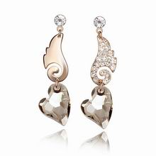 奥地利水晶耳环--甜心爱神(玫瑰金+银彩)