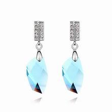奥地利水晶耳环--水漾青春(海蓝)