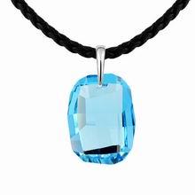 奥地利水晶项链--脂胭畔(海蓝)
