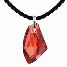 奥地利水晶毛衣链--许愿石(水晶红岩)