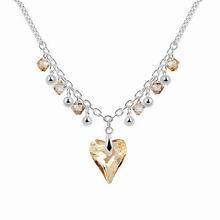 奥地利水晶项链--幸福星光(金色魅影)