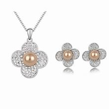 奥地利珍珠套装--水中花(古铜)