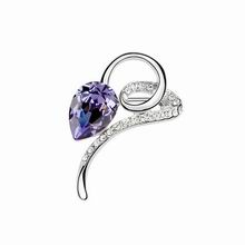 奥地利水晶胸针--花枝曼妙(藕荷紫)
