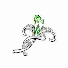 奥地利水晶胸针--风信子(橄榄)