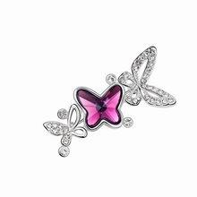 奥地利水晶胸针--蜜蝶(紫色)