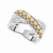 奥地利水晶戒指--今生今世(金色魅影)