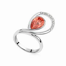 奥地利水晶戒指--恋物语(水莲红)
